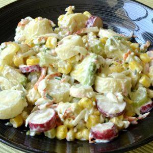 Salade aux cœurs de palmiers et surimi