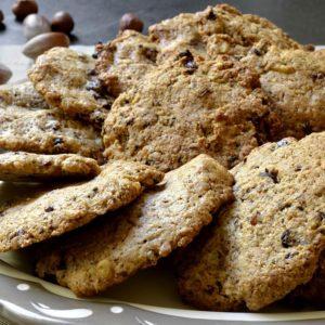 Cookies aux noisettes et canneberges