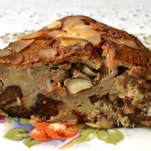 Pudding poire et fruits secs