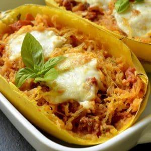 Gratin de courge spaghetti à la tomate
