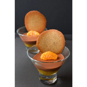 Panna cota au chocolat et à l'orange