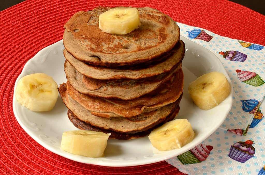 Pancakes à la banane et au sarrasin
