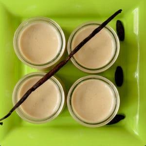 Crème un peu Danette à la vanille ou à la fève Tonka