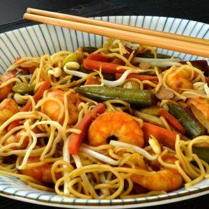 Poêlée asiatique aux crevettes