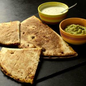 Quesadillas aux protéines de soja texturées