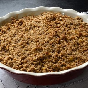 Crumble pommes orange